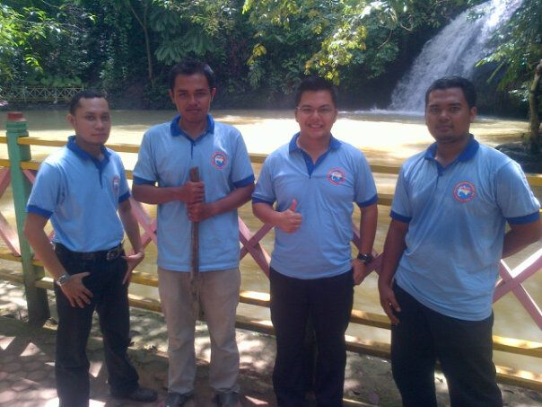 air terjun tanah merah, acara leadership camp ghanesa college